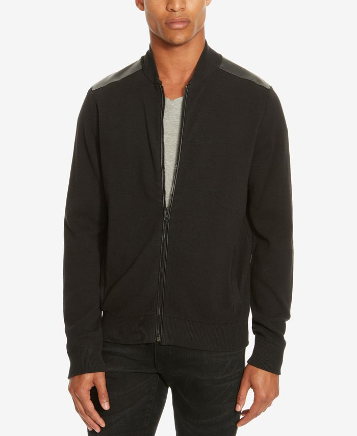 Kenneth Cole New York - Men's Mixed-Media Sweater-Jacket