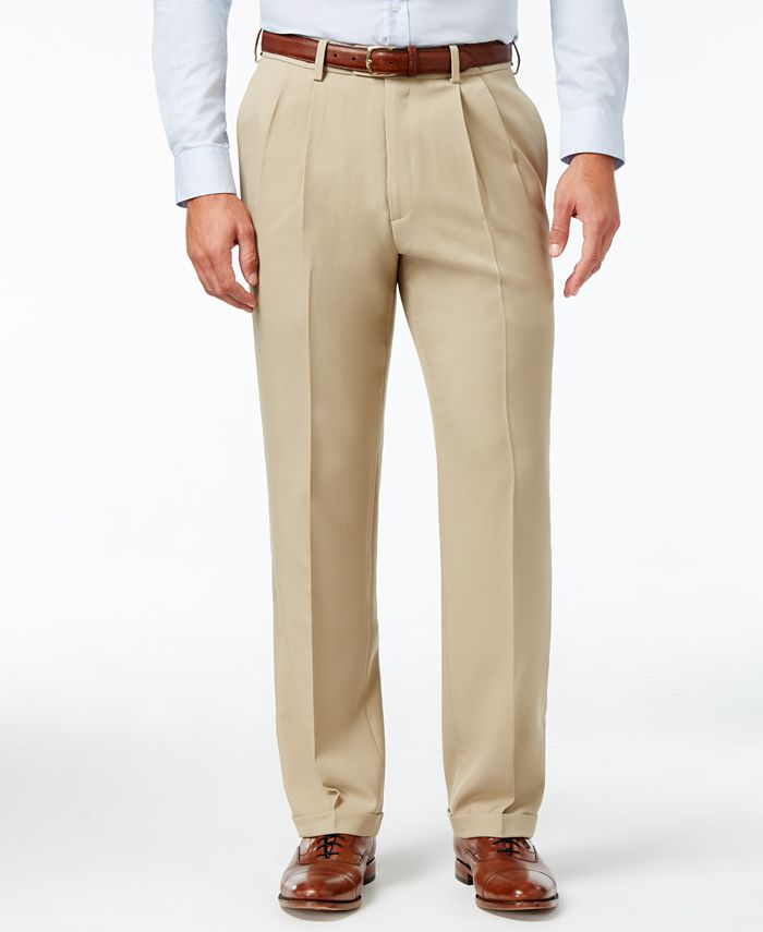 Haggar - Men's Classic-Fit Repreve Stria ECLO Dress Pants