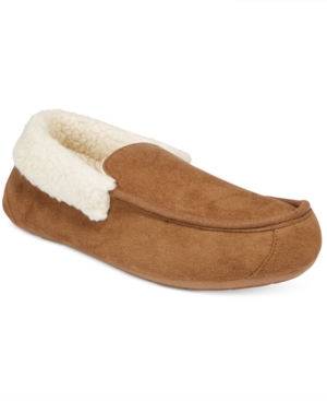 Club Room Men's Slippers, Suede Sherpa Lined Loafer