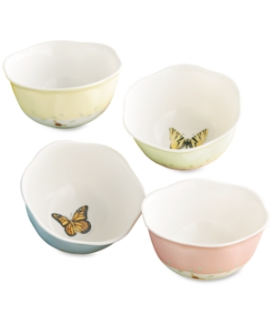 "Lenox ""Butterfly Meadow"" Dessert Bowls, Set of 4"