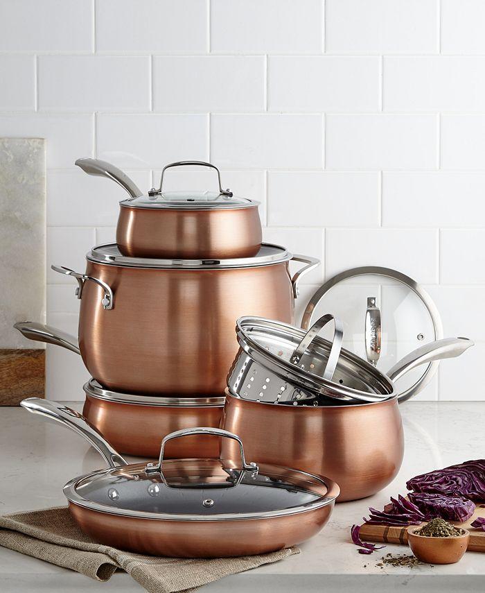 Belgique - Copper Translucent 11-Piece Cookware Set