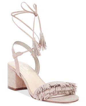 Callisto Melz Lace-Up Block-Heel Dress Sandals Women's Shoes