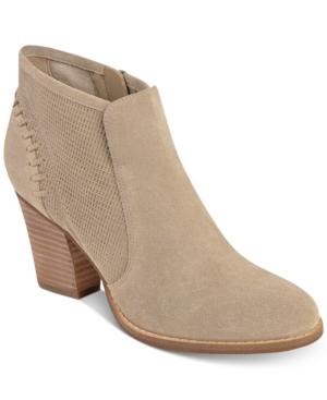 Marc Fisher Cadis Block-Heel Ankle Booties Women's Shoes
