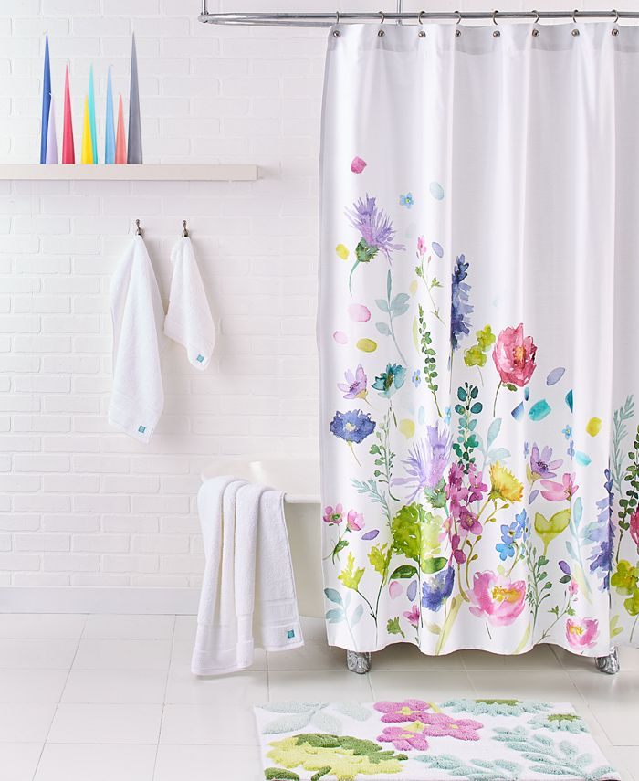 """bluebellgray - Tetbury Meadow 72"""" Square Shower Curtain"""