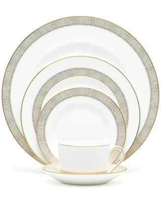 "Vera Wang Wedgwood ""Gilded Weave"" 5-Piece Place Setting"