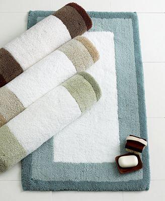 Hotel collection colorblock rug bath rugs bath mats bed bath macy 39 s for Hotel collection bathroom rugs