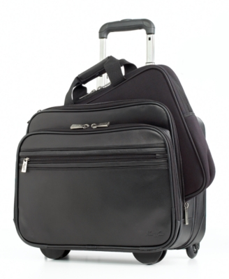 Kenneth Cole New York Laptop Case, Berkeley Leather Wheeled Portfolio