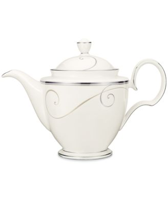 Noritake Dinnerware, Platinum Wave Coffee Pot
