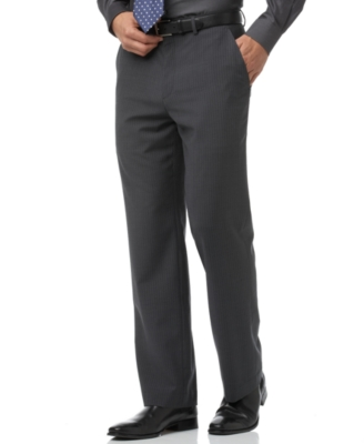 Calvin Klein Pants, Washable Wool Blend Stripe - Slacks