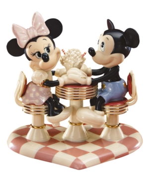 Lenox Collectible Disney Figurine, Mickey Mouse and Friends Mickey Mouse's Soda Shop Sweetheart