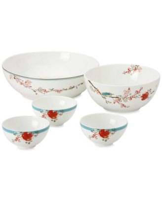 Lenox Simply Fine Dinnerware, Chirp 5 Piece Serving Bowl Set