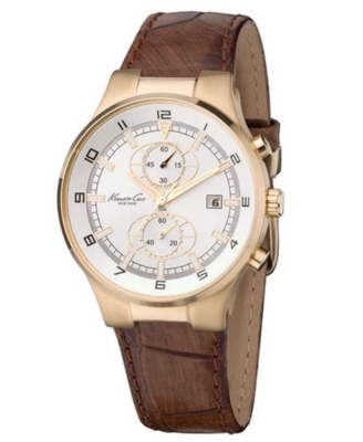 Kenneth Cole New York Watch, Men's Chronograph Leather Strap KC1345