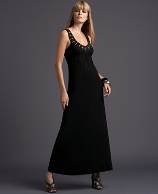 INC International Concepts® Studded Sleeveless Jersey Maxi Dress - New Arrivals - Women's - Macy's :  black jersey sleeveless inc