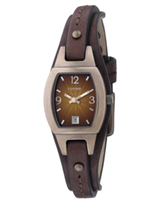 Fossil Watch, Women's Brown Leather Strap JR9760