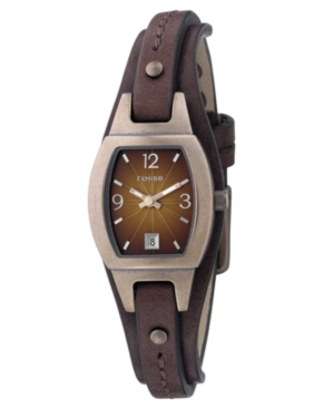 Fossil Watch, Women's Marjorie Brown Leather Strap JR9760