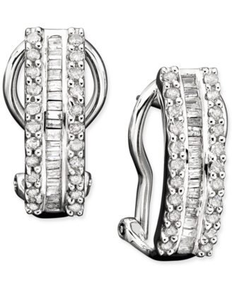 14k White Gold Diamond Earrings (1/2 ct. t.w.)
