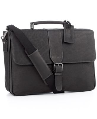 Kenneth Cole Reaction Columbian Leather Double Gusset Laptop Brief