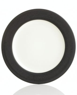 "Noritake ""Colorwave Graphite Rim"" Dinner Plate"