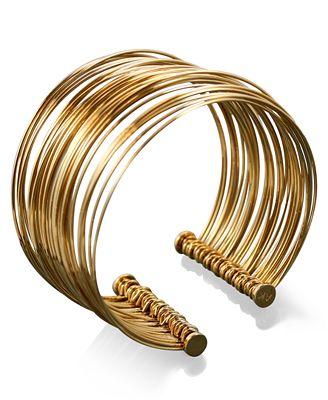 AK Anne Klein Gold-Plated Cuff Bracelet