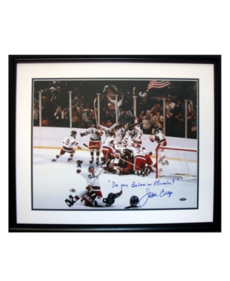 "Steiner Sports Jim Craig ""Do You Believe in Miracles?"" Signed Photograph"