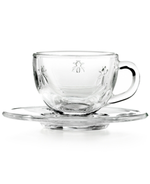 """French Home La Rochere """"Napoleonic Bee"""" Espresso Cup and Saucer, Set of 6"""