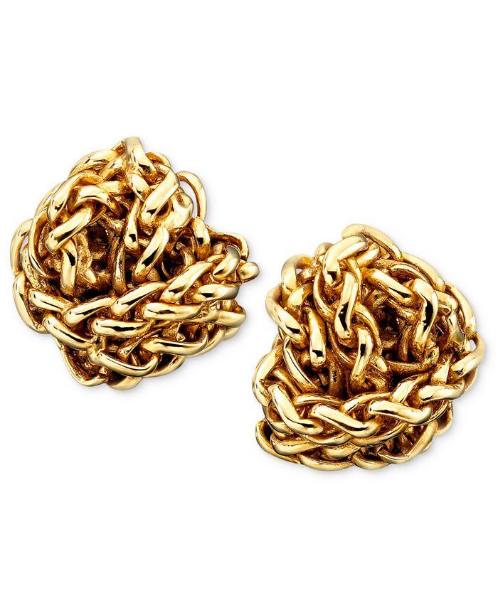 Lauren Ralph Lauren - Gold-Tone Woven Earrings
