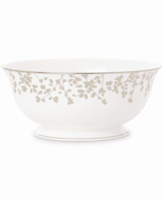 kate spade new york Gardner Street Platinum Serving Bowl