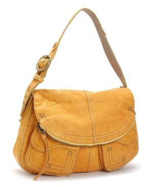 Lucky Brand Jeans Handbag, Foldover Pocket Leather Bag - Handbags