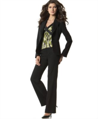 Tahari Ribbon-Trim Pant Suit