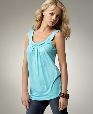 BCBGeneration Pleated Jersey Tank Top - Tops - Women's  - Macy's