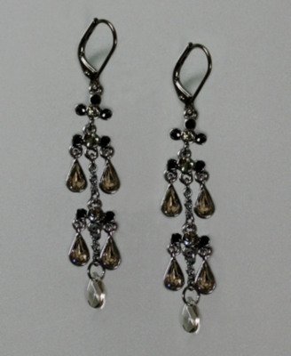 Givenchy Gunmetal Drop Earrings - Chandelier Earrings