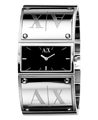 AX Armani Exchange Watch, Women's Stainless Steel Bracelet AX4038