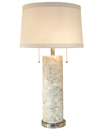 regina andrew mother of pearl column table lamp lighting lamps. Black Bedroom Furniture Sets. Home Design Ideas