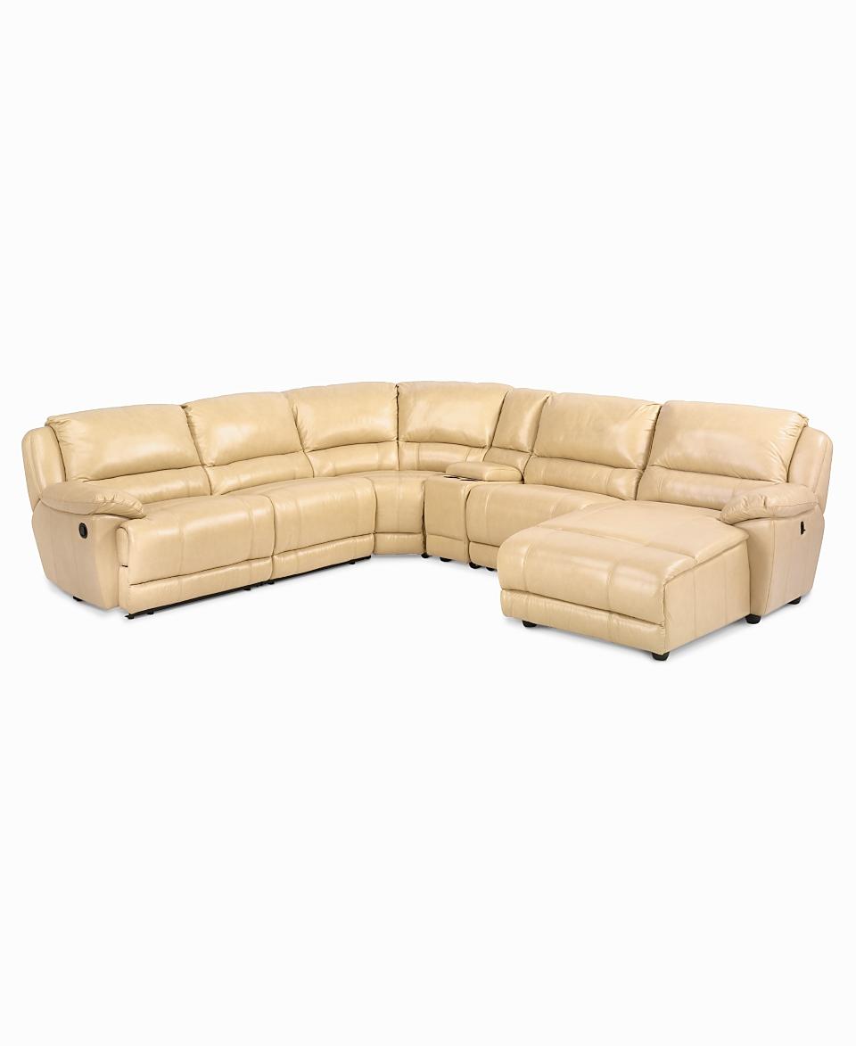 Macys rolla leather sectional sofa 6 piece recliner chair for Macy s reclining sectional sofa