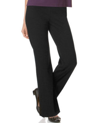JM Collection Petite Pants, Pull On Boot Cut