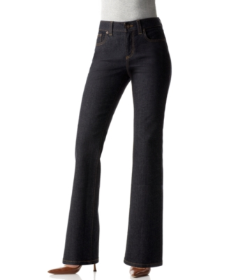 DKNY Petite Jeans, Stretch Soho Boot Cut, Rinse Wash