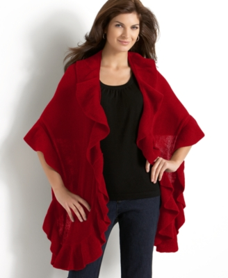 Charter Club Ruffle Edge Wrap