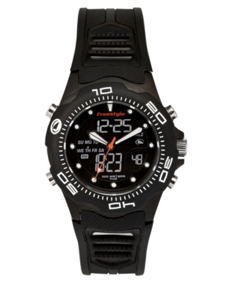 Freestyle Watch, Men's Black Polyurethane Strap FS81241