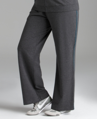 Style&co. Plus Size Pants, Terry Cloth with Piping
