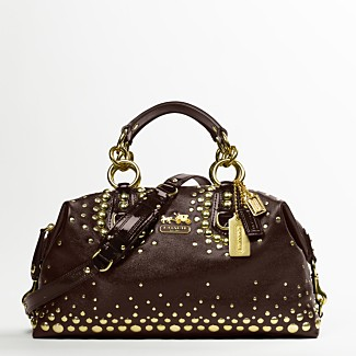 COACH STUDDED LARGE SABRINA - Madison Handbags - COACH  - Macy's from macys.com