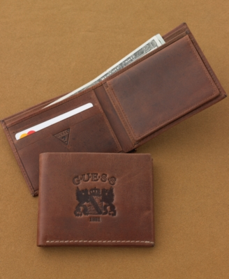 Guess? Wallet, Pebbled Leather Passcase