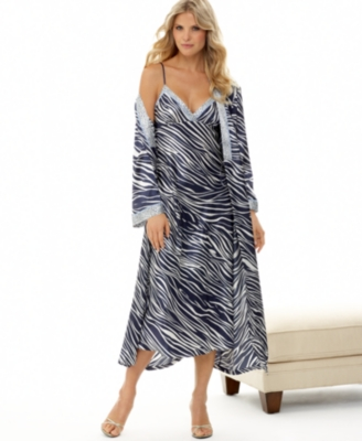 Jones New York Nightgown, Printed Satin