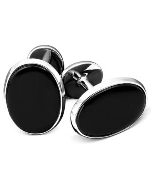 Men's Sterling Silver & Onyx Cufflink