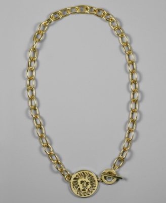 AK Anne Klein Necklace, Goldtone Chain