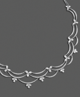 14k White Gold Necklace, Diamond Web (1-1/2 ct. t.w.)