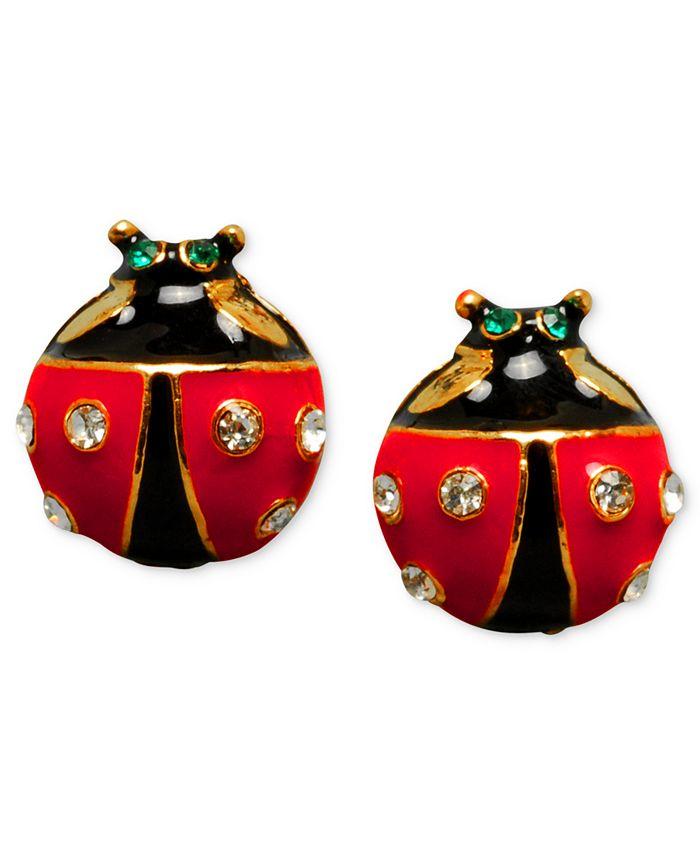 Betsey Johnson - Ladybug Stud Earrings