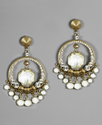 Rachel Rachel Roy Earrings, Crystal Hoop