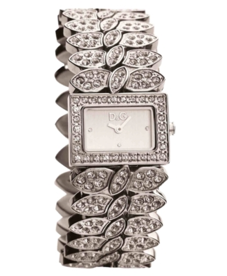 D&G Watch, Women's Pave Crystal Accent Bracelet DW0492