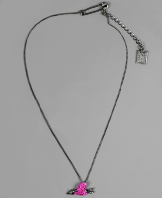 Rachel Rachel Roy Necklace, Crystal Accent Heart and Arrow - Heart Pendant