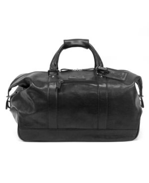 "Kenneth Cole Duffel, 20"" Roma Leather Carry-On - Travel Bags"